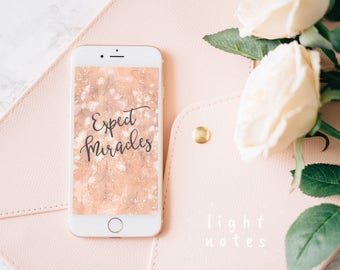 """iPhone 6/iPhone 7/iPhone 8/HTC One Personalized """"Expect Miracles"""" Background/Wallpaper"""