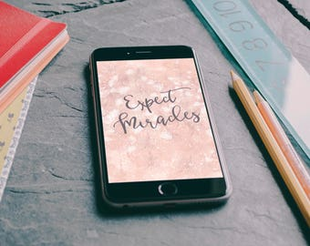 """iPhone 6+/iPhone 7+/iPhone 8+/LG G4/Samsung Galaxy J7/Google Pixel XL """"Expect Miracles"""" Personalized Background/Wallpaper"""