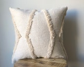 Cream Vintage Wedding Blanket Moroccan Pillow Cover Available in several sizes