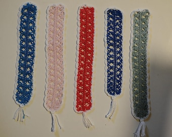 """Bookmark """"Pizzo"""" perfumed in cotton yarn made of crochet with fork"""