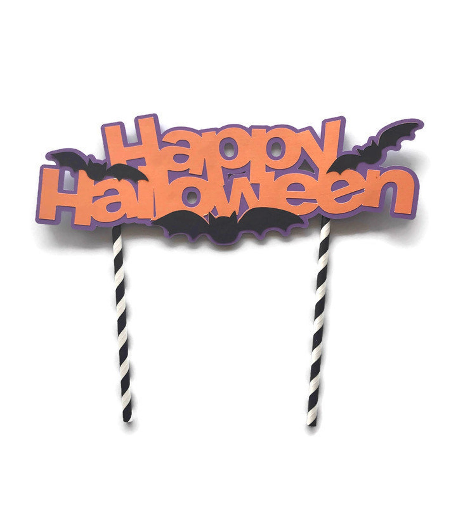 Halloween Bat Cake Picks