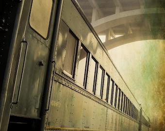 Photography, Train Photography, Tennessee, River, Bridge, Sunrise, Morning, Sky, Fog, Mist, Misty, Windows, Track, Train Track, Design