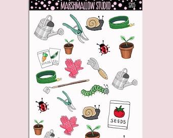 GARDENING | Planner Stickers | Plants | Seeds | Water | Erin Condren | S205