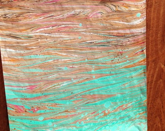 Unique Handmade Marbled Papers (Xtra Large)