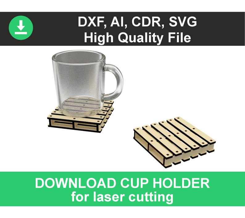 plywood laser cut holder dxf files for laser files cnc pattern holder for  cup plywood model cnc template dxf plywood laser, laser cut dxf ai