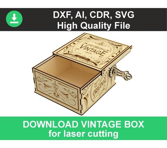 Cnc Plans Box Template Laser Cut Box Cnc Wood Box Template Dxf Files For Laser Files Cut Template Laser Ergraved Wooden Stash Stash Box Dxf