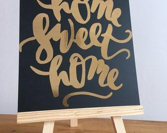Home Sweet Home Chalkboard Easel