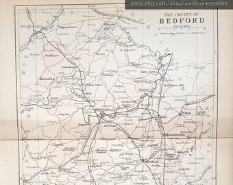 Luton England Map.Luton Map Etsy
