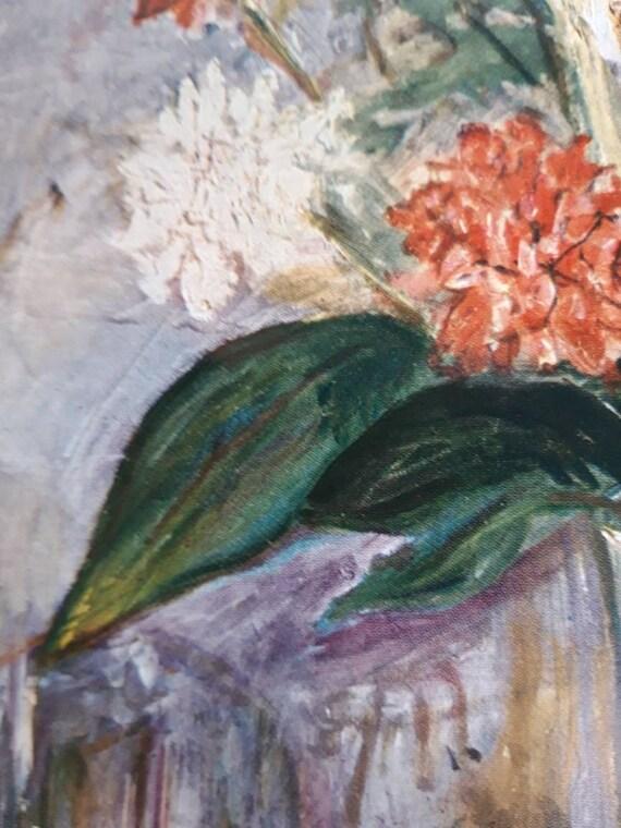 """1953 Vintage Full Color Art Plate /""""NOTRE DAME DE CLIGNANCOURT/"""" by UTRILLO Litho"""