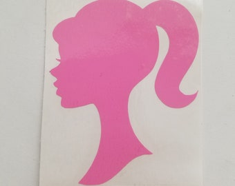 image about Free Printable Barbie Silhouette identified as Barbie silhouette Etsy