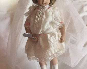 "The Hamilton Collection ""Playing Bride"" Porcelain Doll"