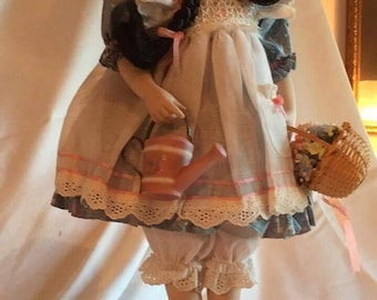 "Franklin Heirloom ""Mary, Quite Contrary"" Porcelain Doll"