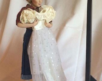 "Danbury Mint ""Prom Dress"" Porcelain Doll"