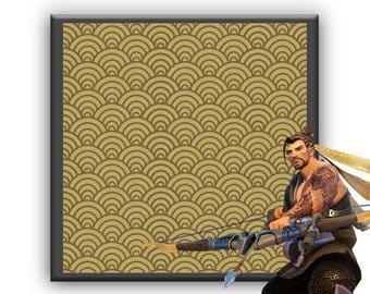 Hanzo's foulard pattern