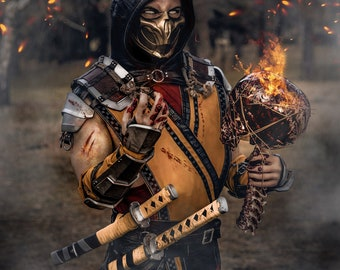 Scorpion Mask Mortal Kombat 11 Etsy