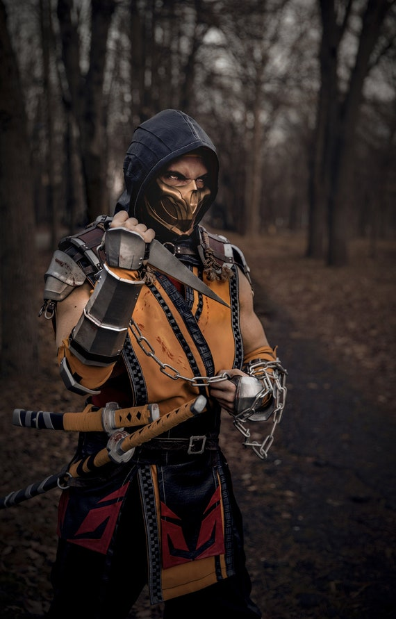 Scorpion Mask Mortal Kombat 11 Etsy