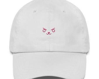 D.Va Hat - D.Va Cap - D.Va Bunny Hat - D.Va Bunny Cap - DVA Hat - DVA Cap -  Overwatch Hat - Overwatch Cap - D.Va Bunny Face Hat - D.Va Bunny bfeb6c77aef