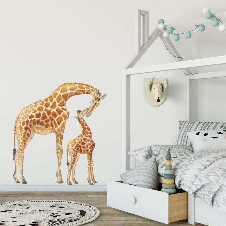 Wall sticker Giraffe-newborn baby-child-maternity gift-kids room Styling-baby room-60x70cm-handpainted-watercolor