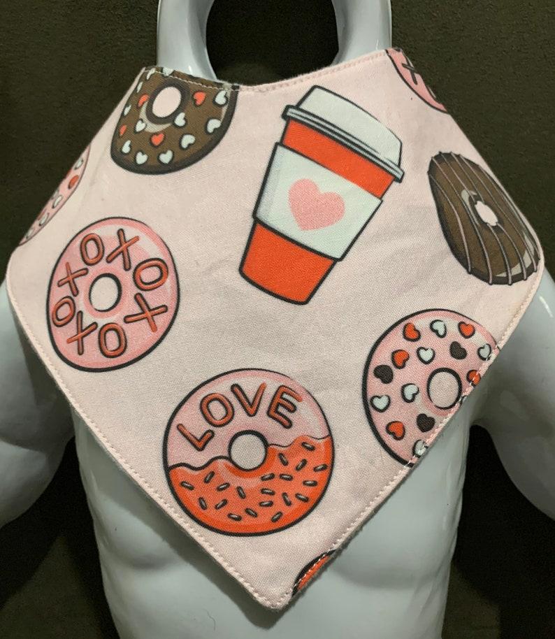 Valentines Day treats with love B-Dry drool bibdonutscoffeebandana bibbibdana