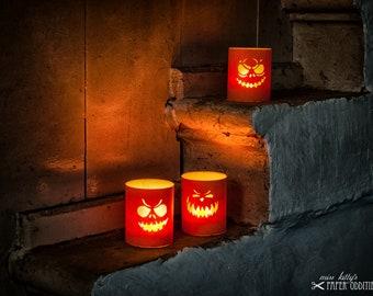 Lantern craft kit »Jack O'Lantern« orange