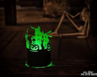 Construction paper »Halloween lantern«