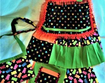 Gummy bear girls dress and pants