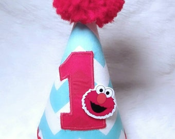 Elmo Birthday Party Hat 1st ONE Sesame Street