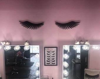 Marvelous Eye Lash Sign//Make Up Room Decor//Make Up Artist Christmas Gift//Little  Girls Room Sign//Salon Decor//Make Up Decor//Shabby Chic Decor