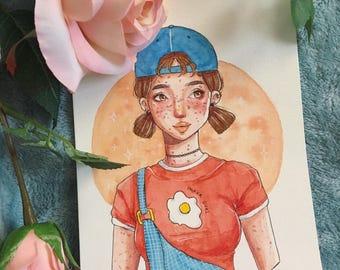 Yolker Girl (Original Artwork)