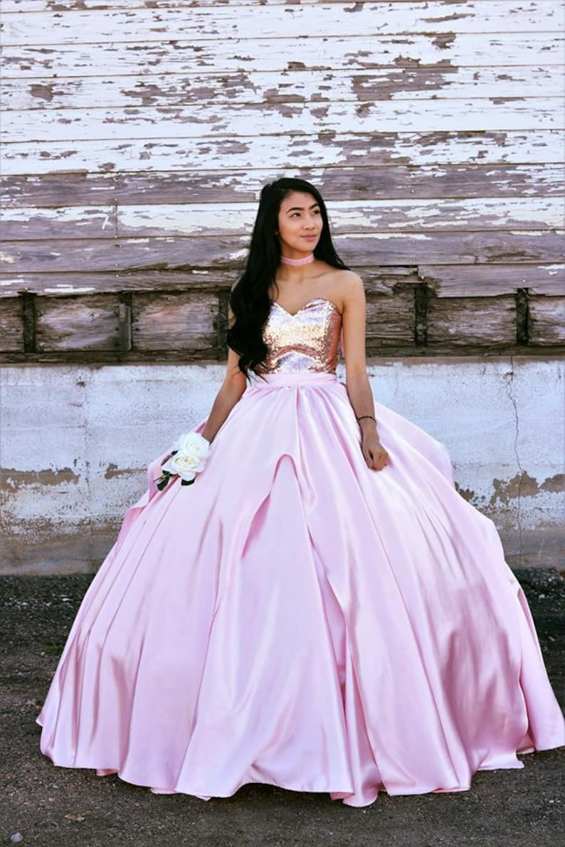 f1e0aa2fa01 Iridian Rose Gold Quinceanera Dress