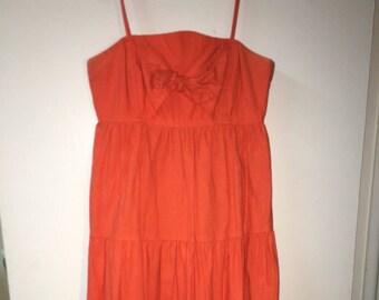 Vintage 70's Orange dress. size small