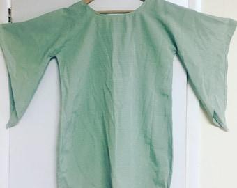 Vintage Flared sleeve sea foam dress
