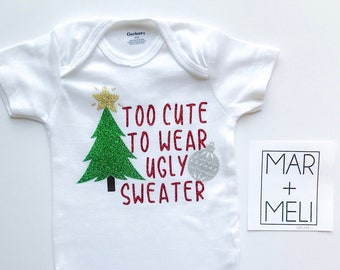e181fc43e544 Ugly sweater onesie