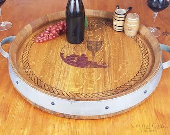 Wine Barrel Lazy Susan Etsy