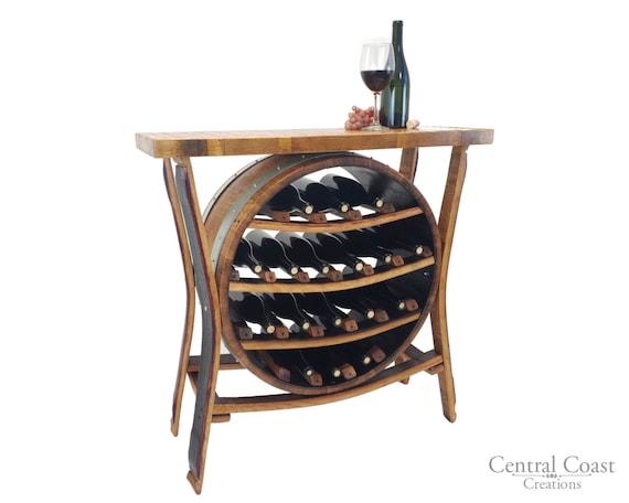 17 Bottle Wine Barrel Wine Rack Rustic Furniture Home Pub Etsy
