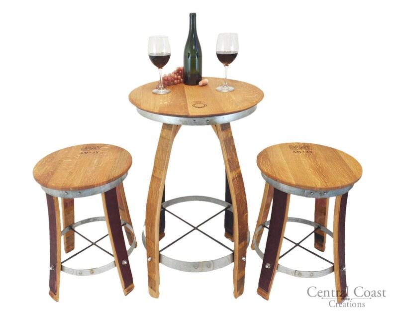 Miraculous Wine Barrel Stave Pub Set Swivel Top Stools Bar Bistro Stools Rustic Furniture Free Shipping Download Free Architecture Designs Scobabritishbridgeorg