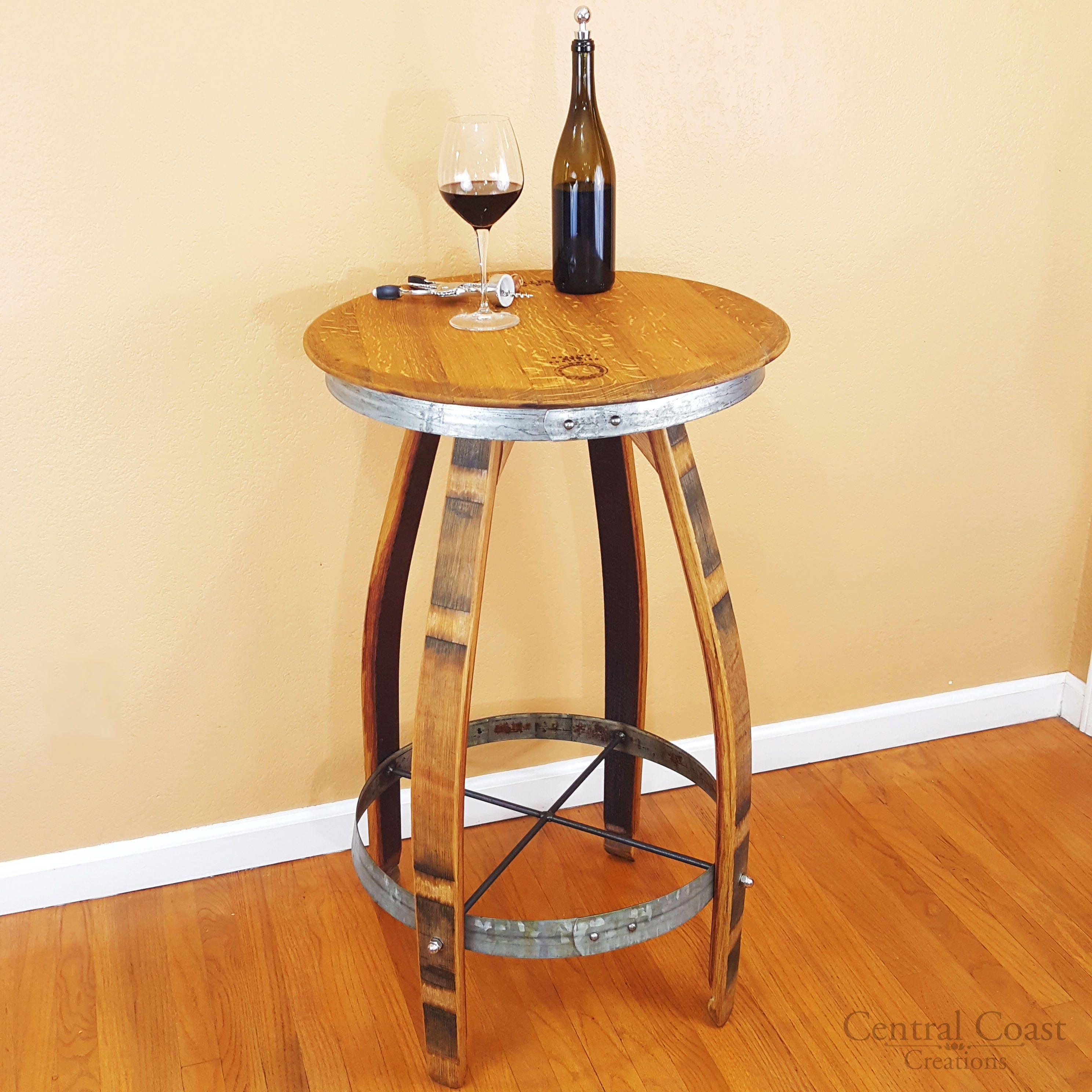 Wine Barrel Pub Table Rustic Furniture Home Decor Patio   Etsy