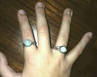 Amazonite Wire-Wrapped Ring