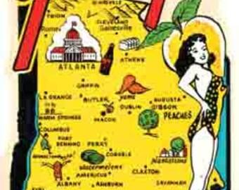 Vintage Style Georgia  Travel Decal sticker