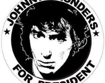 Vintage Style  Johnny Thunders For President New York Dolls Punk 1970's CBGB    Travel Decal sticker