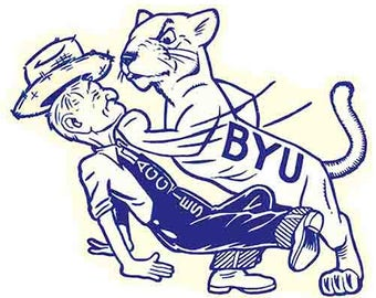 Vintage Style University Of BYU Brigham Young beat Utah State Souvenir Travel Decal sticker college