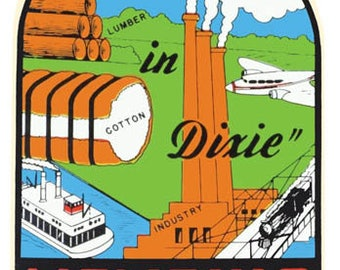 Vintage Style Memphis TN Tennessee  Dixie Travel Decal sticker
