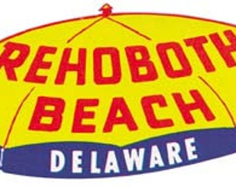 Vintage Style Rehoboth Beach DE Delaware  Travel Decal sticker