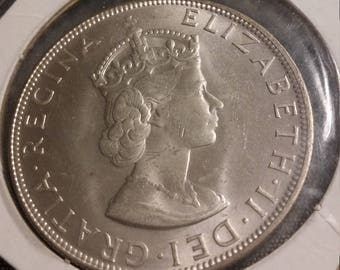 1964 Bermuda Crown with Certificate of Authenticity - 50% Silver