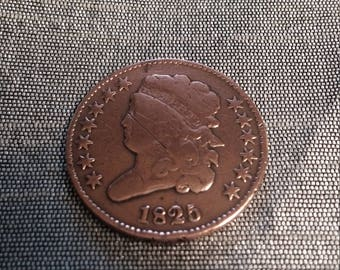 Rare - Low Mintage 1825 Classic Head 1/2 Cent Half Cent