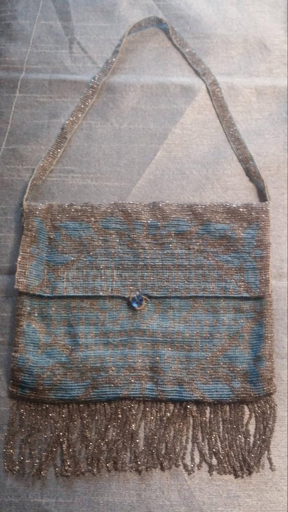 Exquisite Antique Beaded Purse/Handbag with Beaded