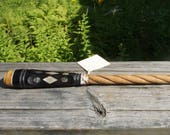 Magical Wand- Hand crafted from Horn Felz, Malted Maple,Ebony, Abalone, Bone & Quartz Crystal