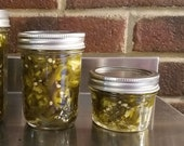 CANDIED JALAPENOS - COWBOY Candy.  Sweet, Spicy, Tangy -1/4 Pint jars. Hors d'ouvres/ Bloody Mary Condiment, pizza topping