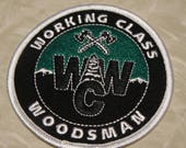 Working Class Woodsman PATCH- WCW logo/Iron on or sew on patches. 3.25""