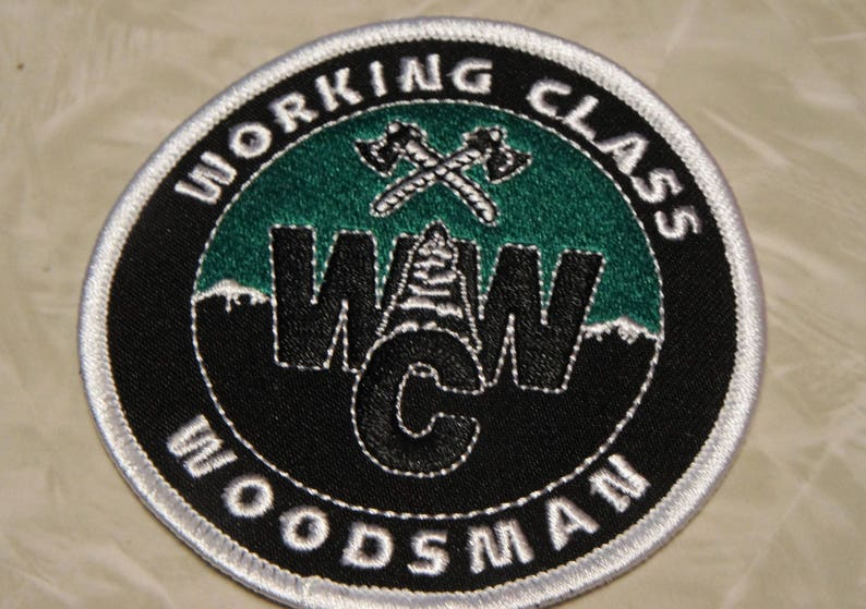 Working Class Woodsman PATCH WCW logo/Iron on or sew on image 0